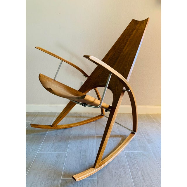 Mid Century Modern Leon Meyer Sculptural Rocking Chair For Sale - Image 13 of 13
