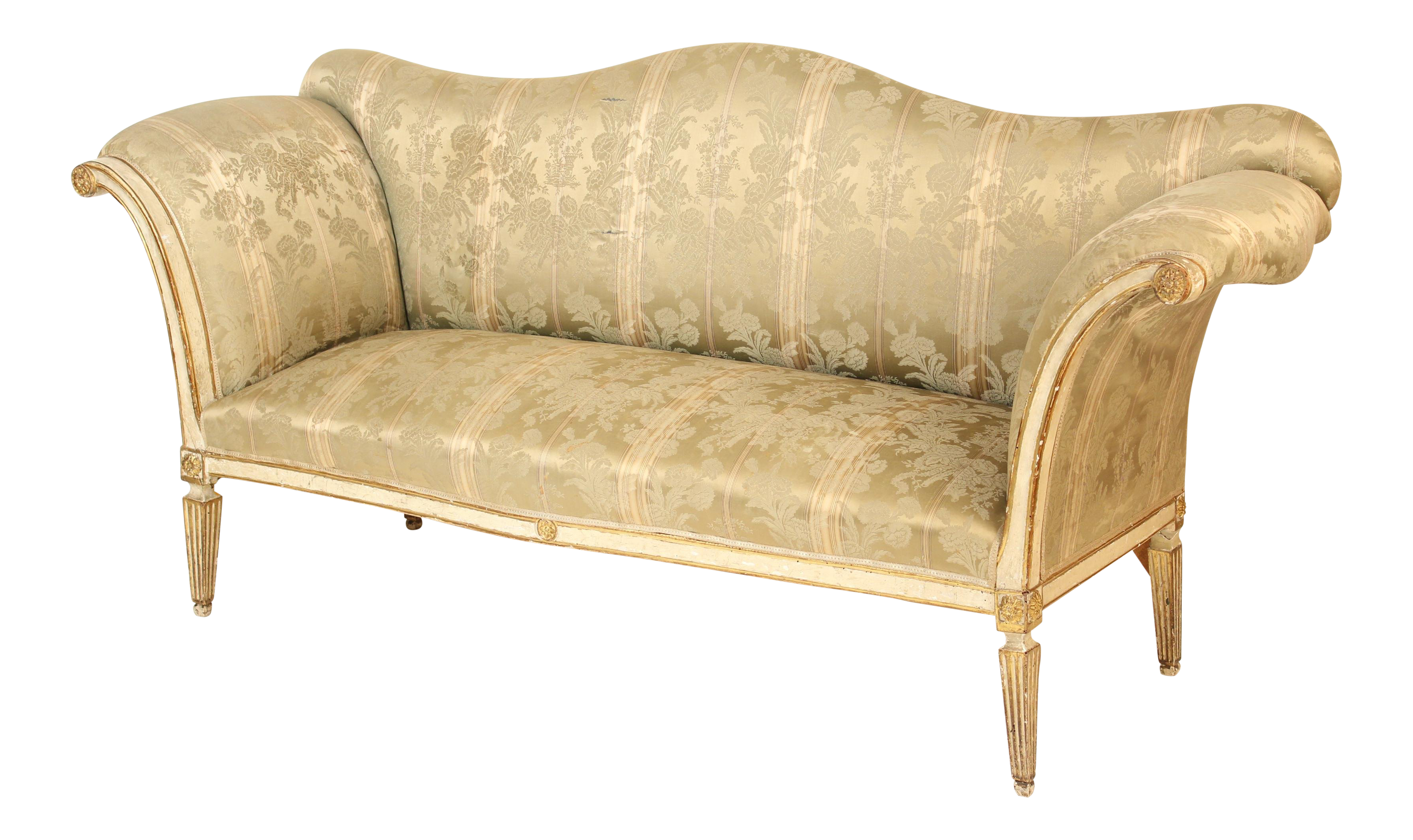 19th Century Louis XVI Style Painted And Gilt Decorated Sofa