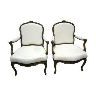 Swedish Rococo Armchairs - Pair For Sale