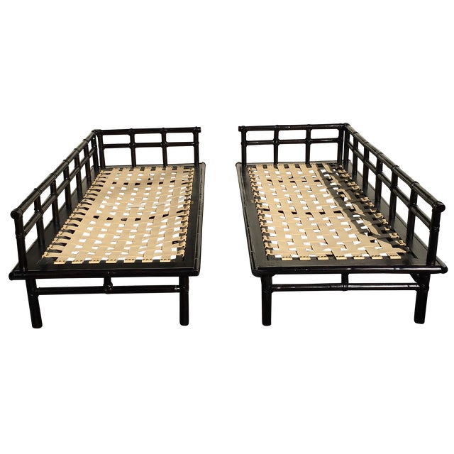 McGuire Jpanese-Style Daybed Sofas - A Pair - Image 1 of 7