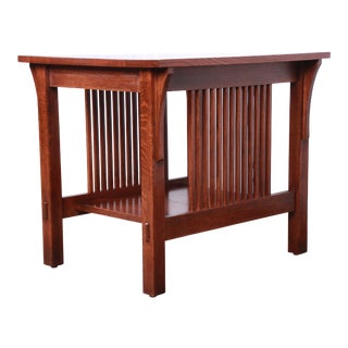 Stickley Mission Arts & Crafts Solid Quartersawn Oak Occasional Side Table For Sale