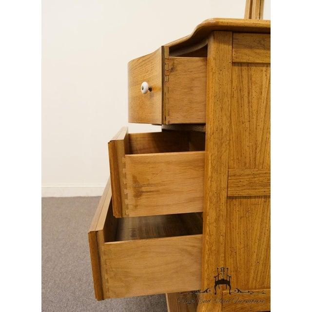 Brown Pulaski Furniture Keepsakes Collection Oak Dresser & Wishbone Mirror For Sale - Image 8 of 13