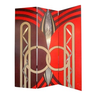 Fabulous Art Deco Style Screen For Sale