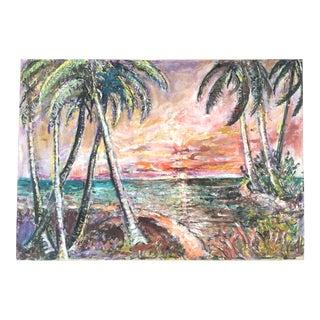 Florida Expressionist Landscape For Sale