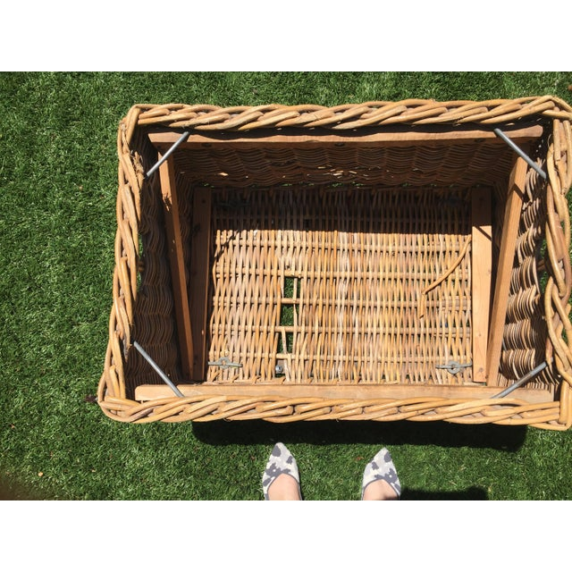 Early 21st Century Antique French Champagne Grape Basket For Sale - Image 5 of 6