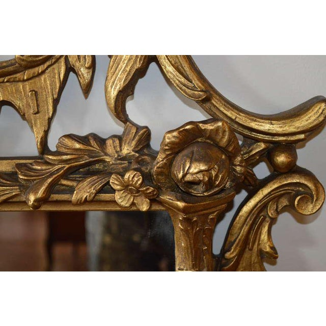Rococo Early 20th Century Vintage Rococo Style Gilded Mirror For Sale - Image 3 of 8