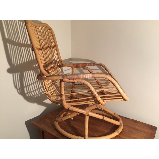 Mid-Century Rattan Chair - Image 9 of 11