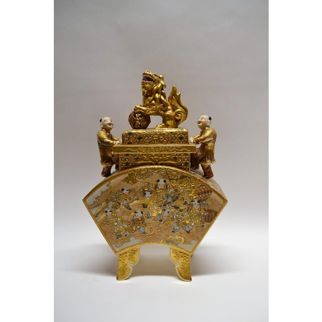 Antique Satsuma Japanese Vase and Cover circa 1895-1900 For Sale In New Orleans - Image 6 of 6