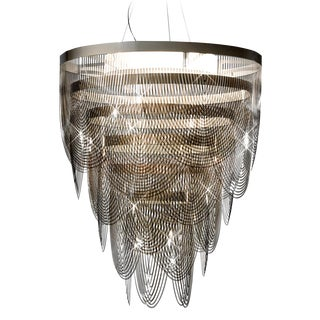 Slamp Large Modern Acrylic Ring Chandelier