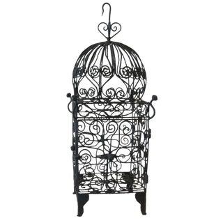 Moorish Iron Hanging Candle Lantern