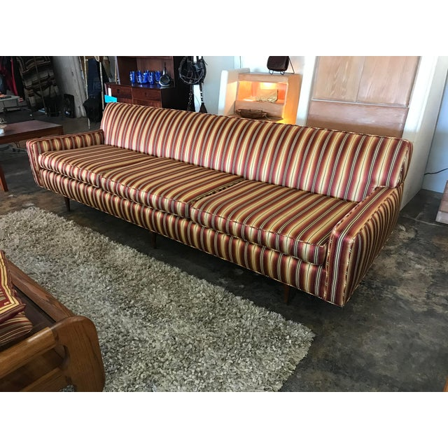 Red Mid Century Sofa Style of Milo Baughman For Sale - Image 8 of 8