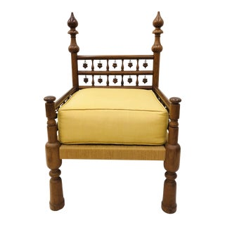 Vintage Indian Arm Chair For Sale