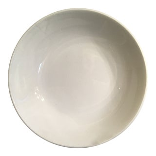 1920s French Luneville White Ironstone Pottery Bowl For Sale