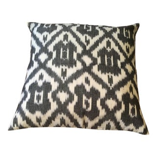 Black & White Ikat Pillow Cover