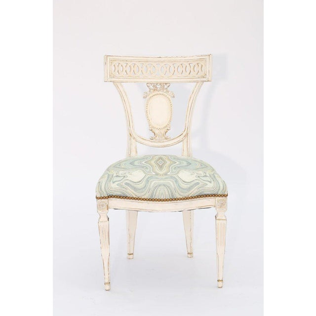 Early 20th Century Single Painted Italian Classical Style Side Chair For Sale - Image 5 of 8