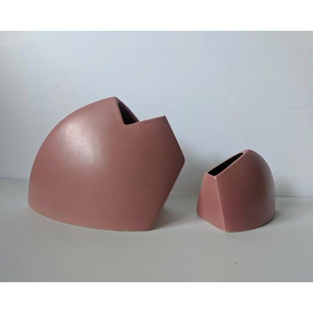 Set of 2- 1980s Modernist J Johnston Sculptural Vessels For Sale - Image 12 of 12
