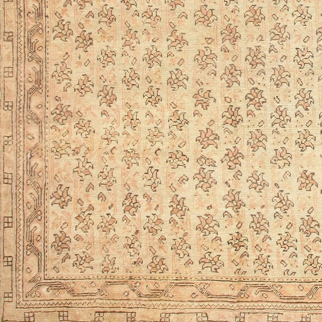 Antique Turkish Oushak Square Rug - 14′3″ × 14′8″ For Sale - Image 4 of 6