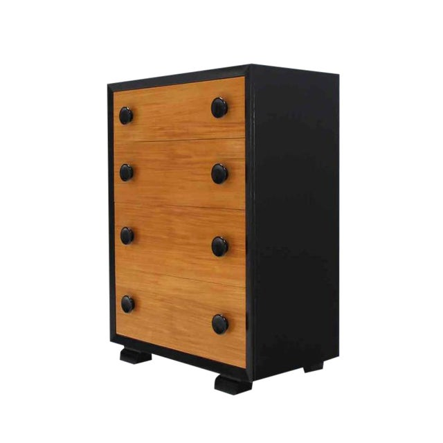 Two-Tone Mid-Century Modern Four-Drawer Dresser For Sale