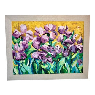 Purple Irises Collage For Sale