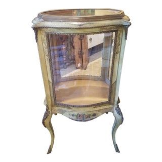 French Hand Painted Vitrine