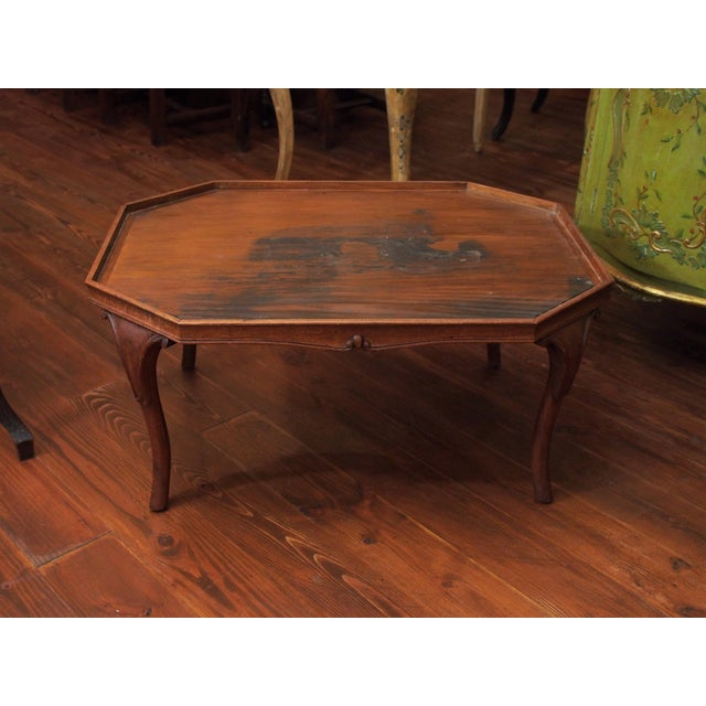 19c. Painted Tray as a Coffee Table For Sale - Image 11 of 11