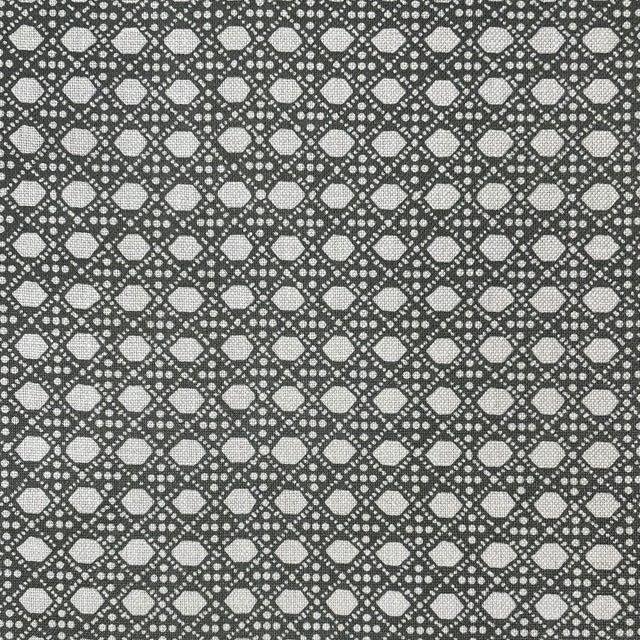 LuRu Home Wickerwork Fabric, Sample in Smoke For Sale