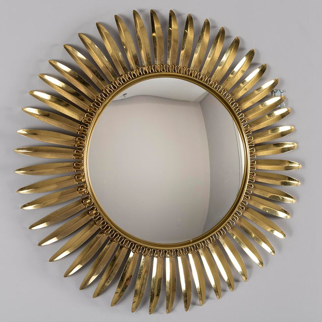 Vintage Italian Metal Starburst With Convex Mirror For Sale - Image 9 of 10