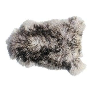 Modern Genuine Icelandic Sheepskin Shade of Grey Rug Throw- 2′ × 3′