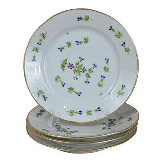 Antique Cornflower Sprig Old Paris Plates - Set of 4