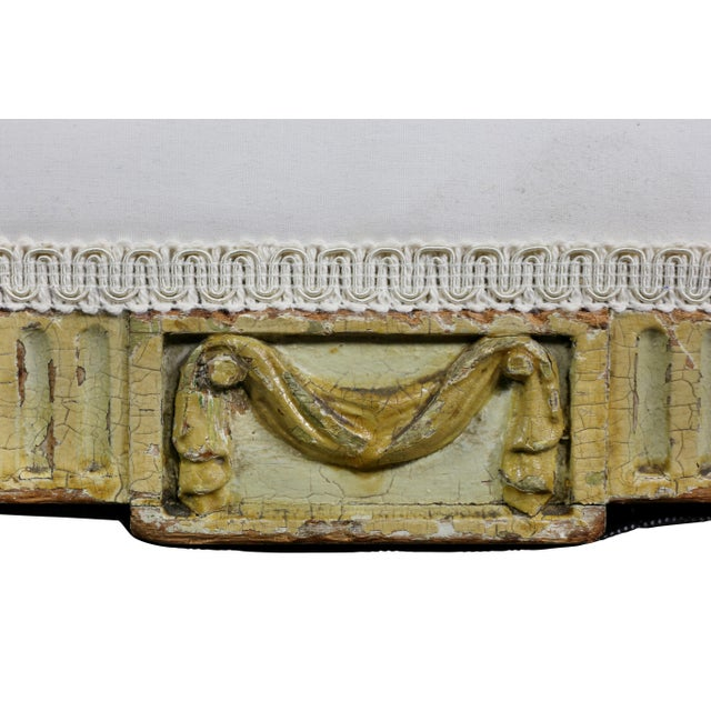 George III Painted Window Bench For Sale - Image 4 of 12