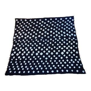 Boho Chic Van Veere Blue Kantha Blanket - 87ʺW × 93.5ʺD For Sale