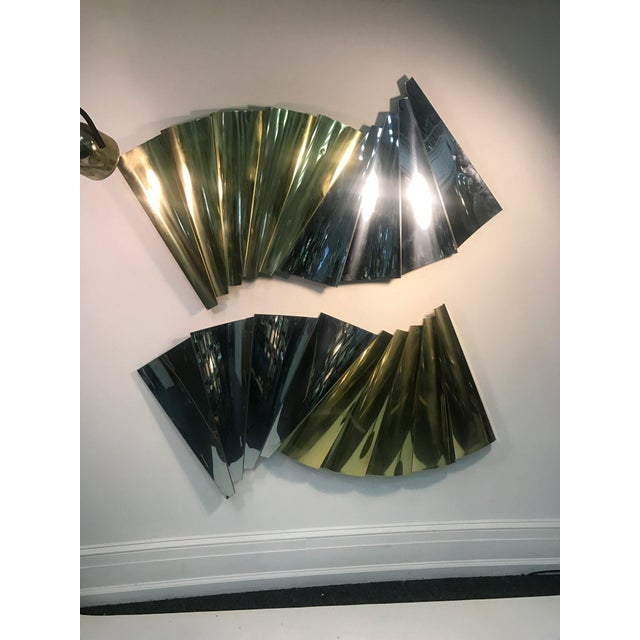 Modern 1970s Modernistic Design Wall Sculptures by Curtis Jere - a Pair For Sale - Image 3 of 3