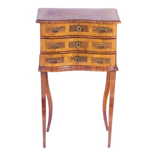 19th C. Italian 3-Drawer Side Table For Sale