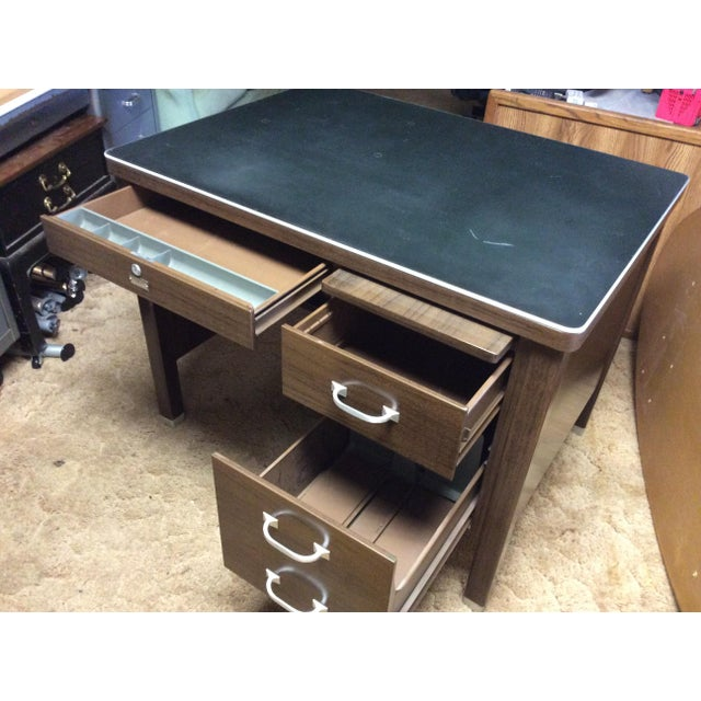 1930s 1930 Vintage Metal Desk For Sale - Image 5 of 6