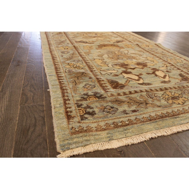 """Persian Sultanabad Rug - 3'2"""" x 13'9"""" - Image 4 of 10"""