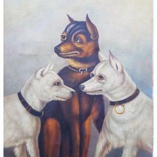 Vintage Folk Art Dog Painting For Sale