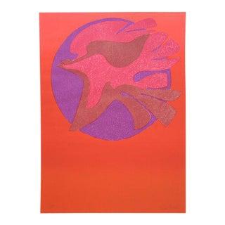 Pedro Coronel LItho 85-100 Dove, Untitled For Sale
