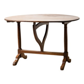 Antique 1900s French Mahogany Wine Table For Sale