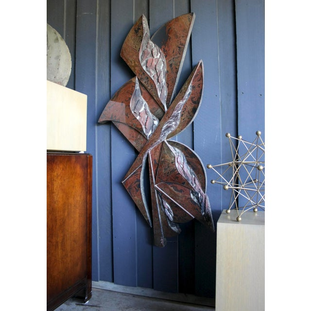 """48"""" Tall Abstract Resin Sculpture by Laddie John Dill For Sale - Image 11 of 12"""