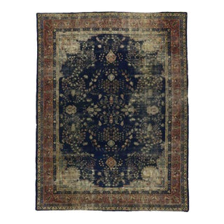 Distressed Antique Turkish Sparta Rug with Modern Industrial Style For Sale
