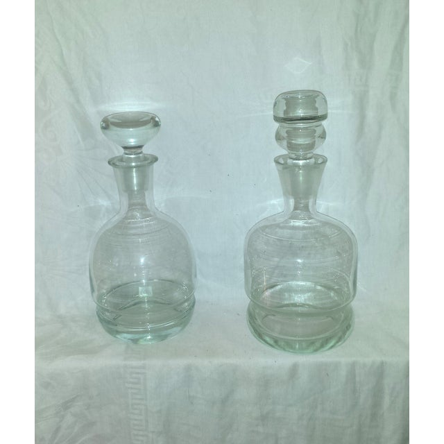 1920s Clear Glass Bar Decanters - A Pair - Image 2 of 10