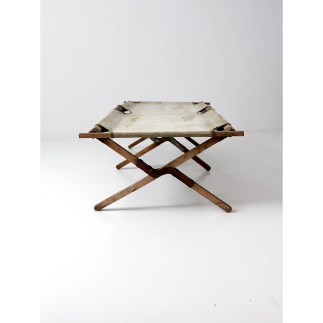 1940s Vintage 1940s Army Cot For Sale - Image 5 of 12
