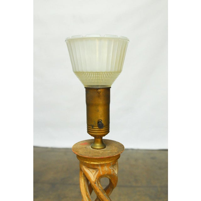 James Mont Carved Helix Lamp for Frederick Cooper For Sale - Image 5 of 8