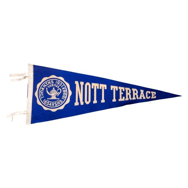 Vintage Nott Terrace High School Felt Flag For Sale