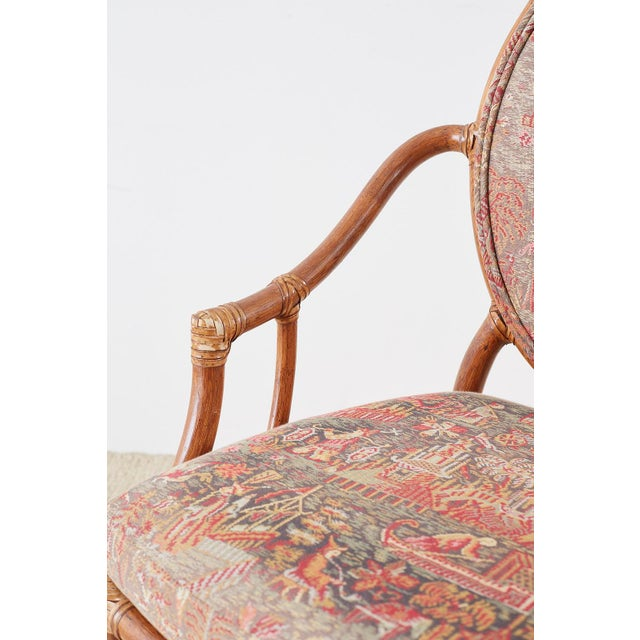 McGuire Rattan Chinoiserie Dining Armchairs - Set of 8 For Sale In San Francisco - Image 6 of 13