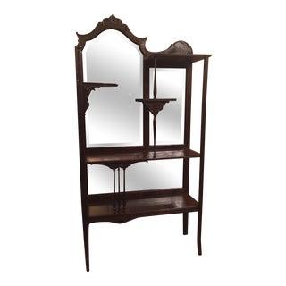 Art Nouveau Victorian Curio Cabinet