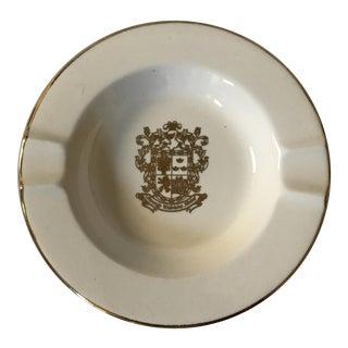 Beverly Wilshire Hotel Gilded Ceramic Ashtray