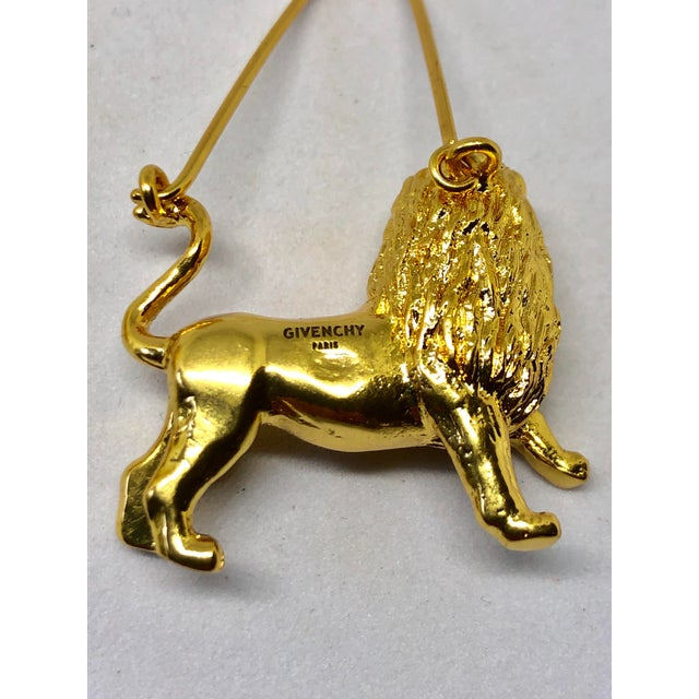 From the 2019 Givenchy zodiac collection, a stunning pair of statement lion/Leo earrings.