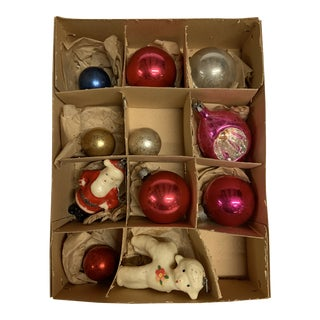 1960s Vintage Holiday Ornaments - Set of 11 For Sale