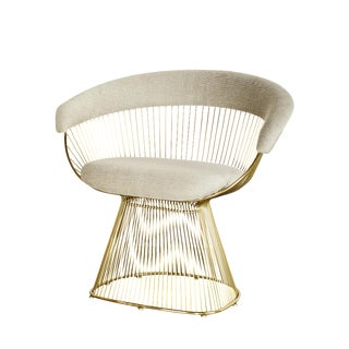 Warren Platner Inspired Gold Accent/Dining Chair